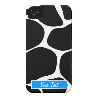 Impressão azul preto/branco do girafa - capa para iPhone 4 Case-Mate