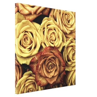 Impressão bonito das canvas dos rosas impressão de canvas esticada