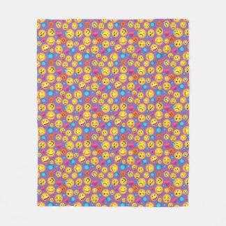 Impressão bonito de Emoji no Lt Roxo Cobertura Cobertor De Velo