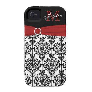 Impressão branca preta vermelha do iPhone 4 do dam Capas Para iPhone 4/4S