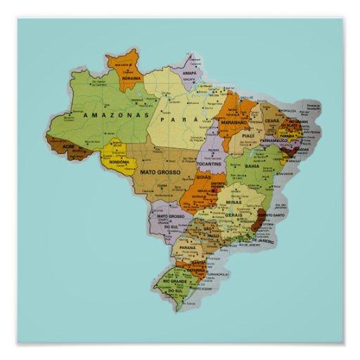 Impressão brasileiro da foto do mapa