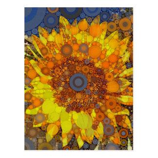 Impressão brilhante da arte de Digitas do mosaico  Cartão Postal