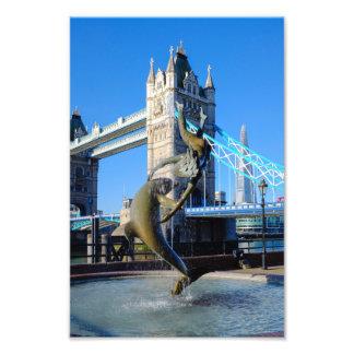 Impressão BRITÂNICO de Londres da ponte da torre Impressão De Foto