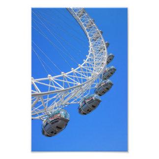 Impressão BRITÂNICO do olho de Londres Impressão De Foto
