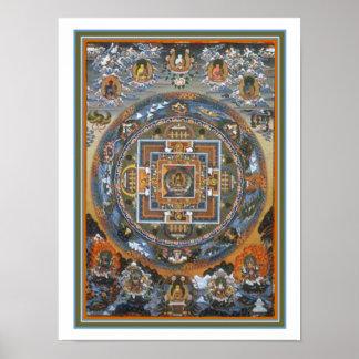 Impressão budista 12 x 16 da mandala