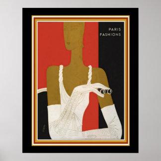 Impressão CA 1931 das formas de Paris do art deco