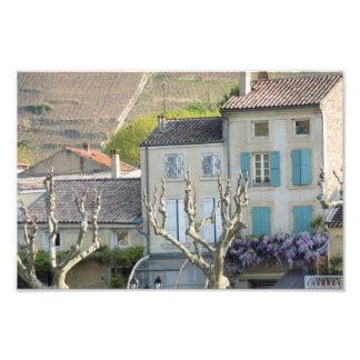 IMPRESSÃO - cena France da vila rural Foto