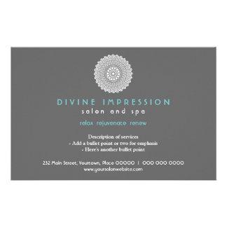 Impressão ciana divina horizontal panfleto personalizados