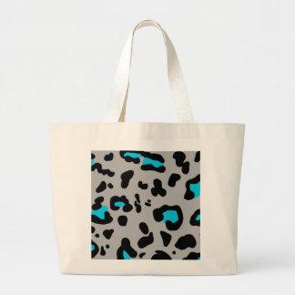 Impressão cinzento do leopardo bolsa tote grande