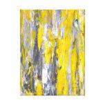 Impressão cinzento e amarelo das canvas de arte ab impressão em tela canvas