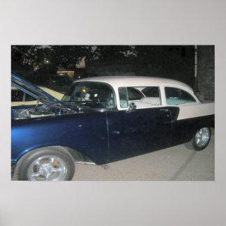 Impressão clássico do carro