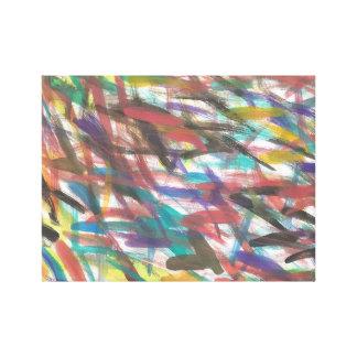 Impressão colorido abstrato das canvas das marcas