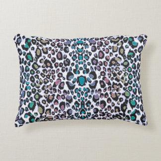 Impressão colorido cintilante do leopardo almofada decorativa