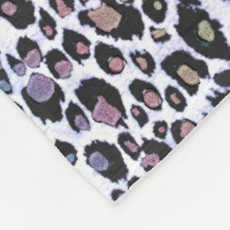Impressão colorido cintilante do leopardo cobertor de velo