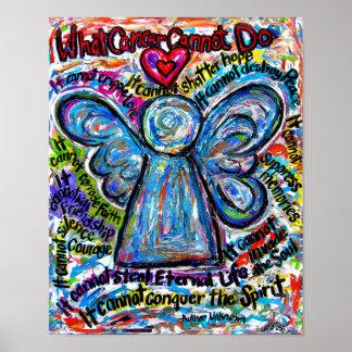 Impressão colorido do poster do anjo do anjo