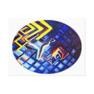 Impressão colorido original das belas artes em
