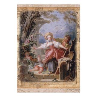 Impressão composto da família do jardim de cartão de visita grande