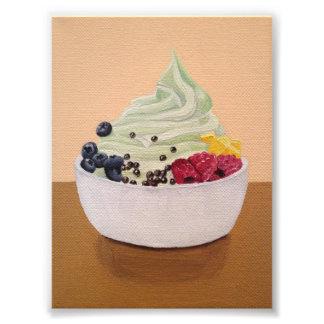 Impressão congelado do Yogurt Impressão De Foto