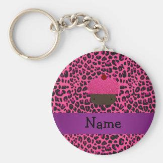 Impressão conhecido personalizado do leopardo do r chaveiro