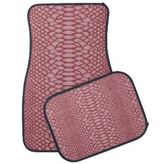 Impressão cor-de-rosa do cobra tapete automotivo