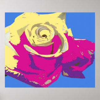 Impressão cor-de-rosa do poster da arte