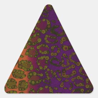 Impressão cor-de-rosa fluorescente da chita da adesivos em forma de triângulo