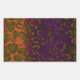Impressão cor-de-rosa fluorescente da chita da adesivo retângular