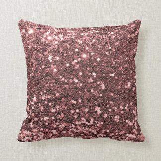 Impressão cor-de-rosa moderno do brilho do brilho almofada