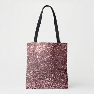 Impressão cor-de-rosa moderno do rosa do brilho do bolsa tote