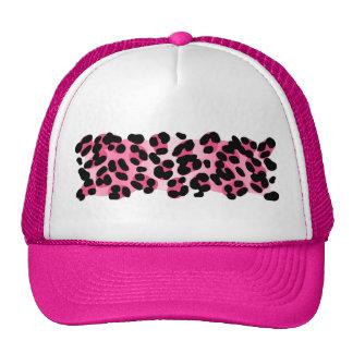 Impressão cor-de-rosa retro do leopardo boné