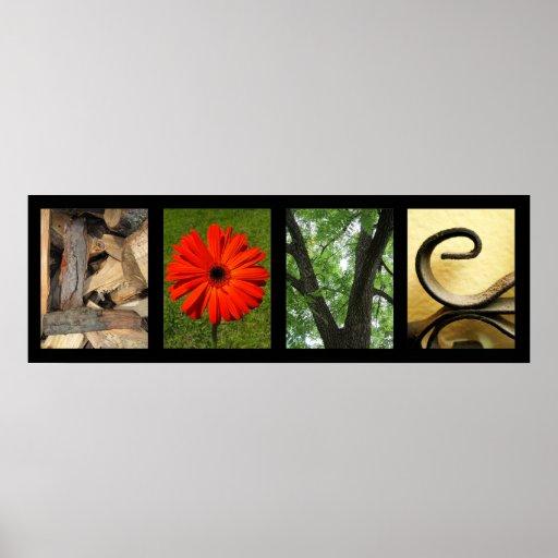 Impressão criativo da arte da fotografia do alfabe