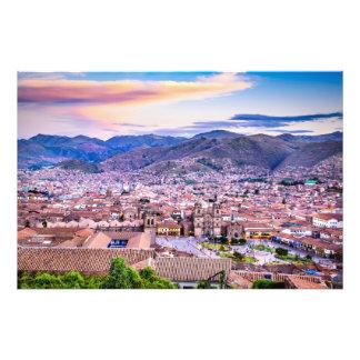 Impressão Cusco Peru da foto