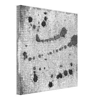 Impressão da aguarela em canvas