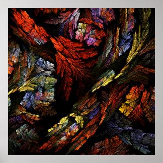 Impressão da arte abstracta da harmonia da cor