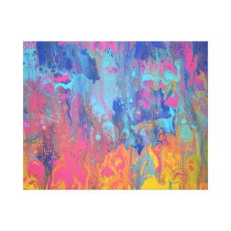 Impressão da arte abstracta do nascer do sol do