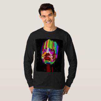 Impressão da arte abstracta na camisa longa da
