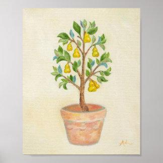 Impressão da arte da árvore de pera