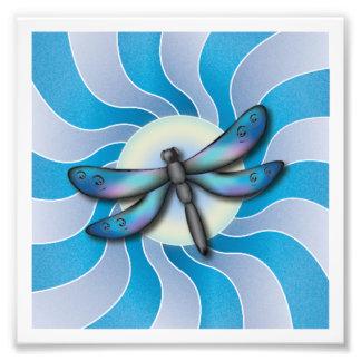 Impressão da arte da libélula impressão de foto