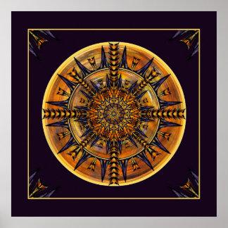 Impressão da arte da mandala da traça do