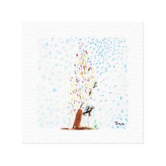 Impressão da arte da parede das canvas da árvore