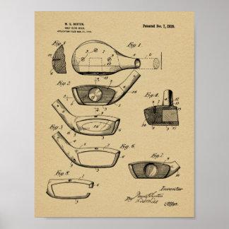Impressão da arte da patente de design da cabeça