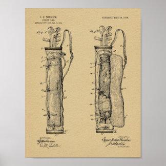 Impressão da arte da patente de design do saco do