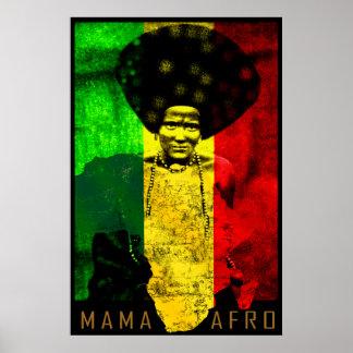 Impressão da arte da reggae do mapa do Mama Afro Á
