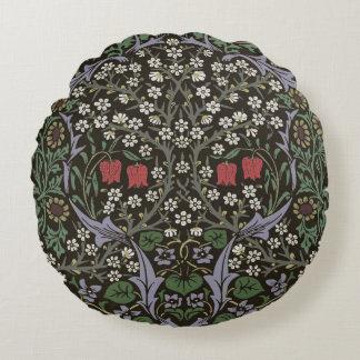 Impressão da arte da tapeçaria da ameixoeira-brava almofada redonda
