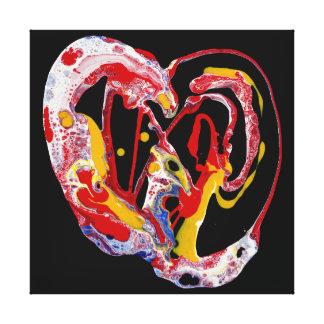 """Impressão da arte das canvas - """"coração louco """""""