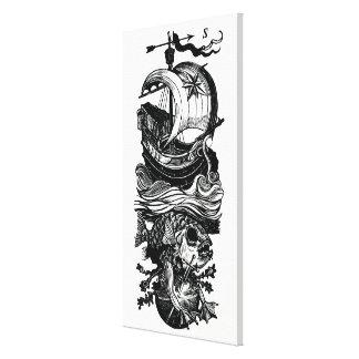 Impressão da arte das canvas da espada dos peixes