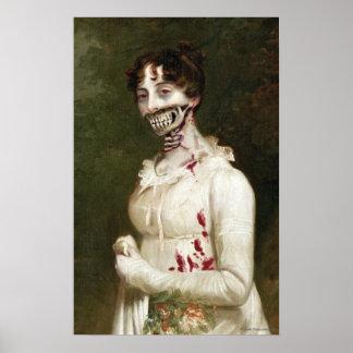 Impressão da arte das canvas do zombi do cobrir de