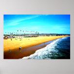 Impressão da arte de Califórnia da praia de Newpor
