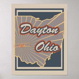 Impressão da arte de Dayton, Ohio - poster de