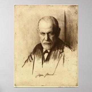 Impressão da arte de Sigmund Freud